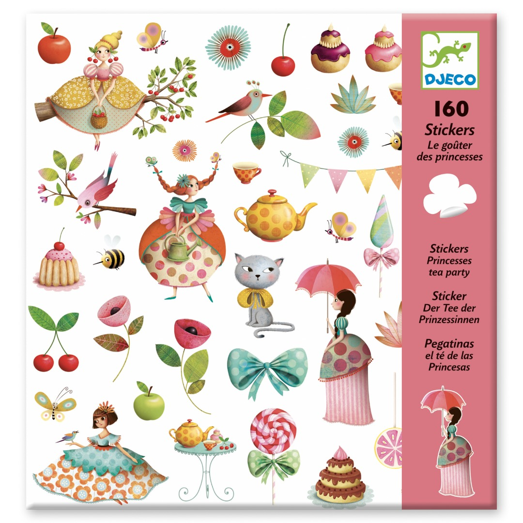 stickers - prinses tea party