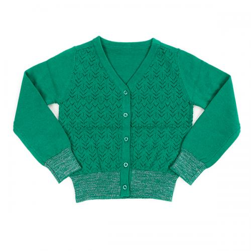 cardigan knit Nette emerald